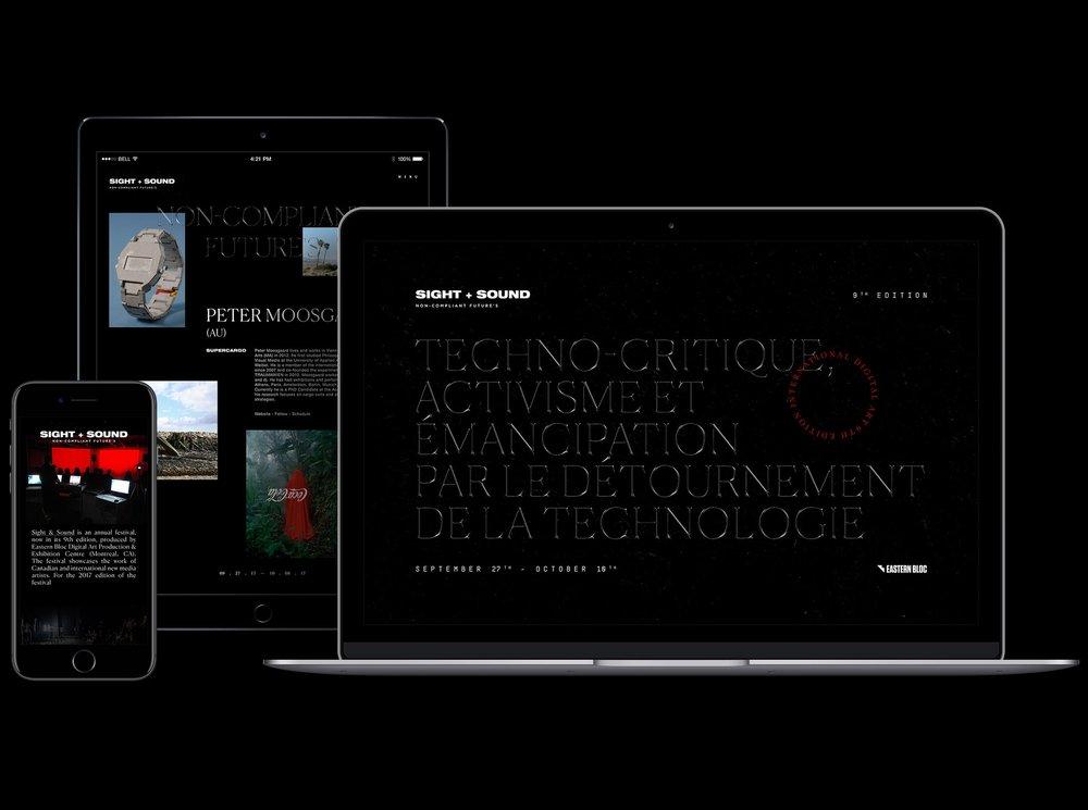 Sight + Sound 2017 Web Campaign Design by Teo Zamudio