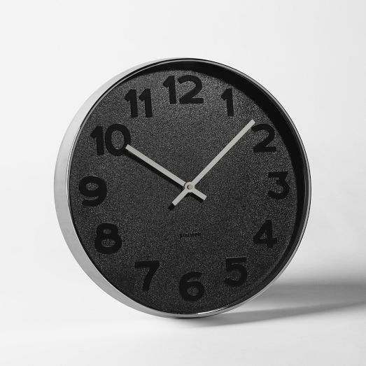 West Elm Mrs. Black Wall Clock