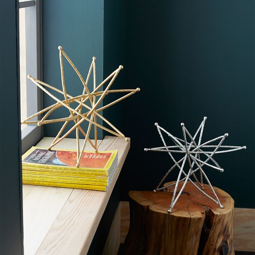 West Elm Star Sculptures