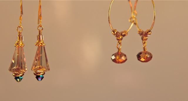honey cones, shooting star earrings