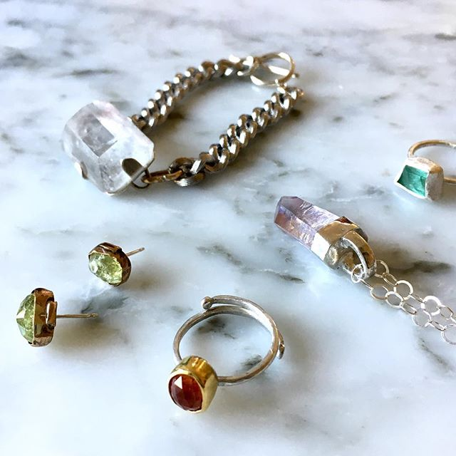 🎶 These are a few of my favorite things 🎶 #gemstones #handmadejewelry #whattowear #womanownedbusiness #colormebeautiful #amuletbyd #fighter