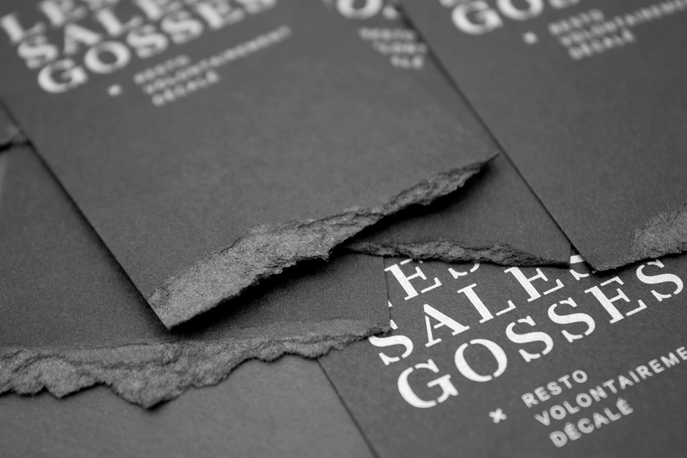 Design graphique-Logo restaurant-Branding-Les sales gosses-Québec