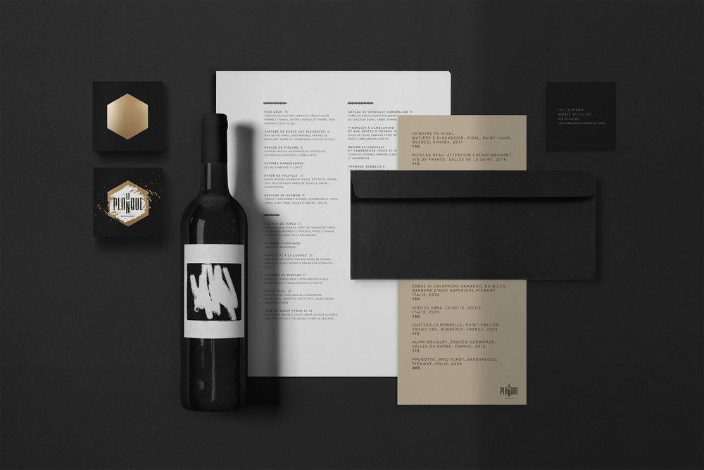 Design graphique-Branding-Logo-Carte d'affaires-Papeterie-Restaurant-La planque-Québec