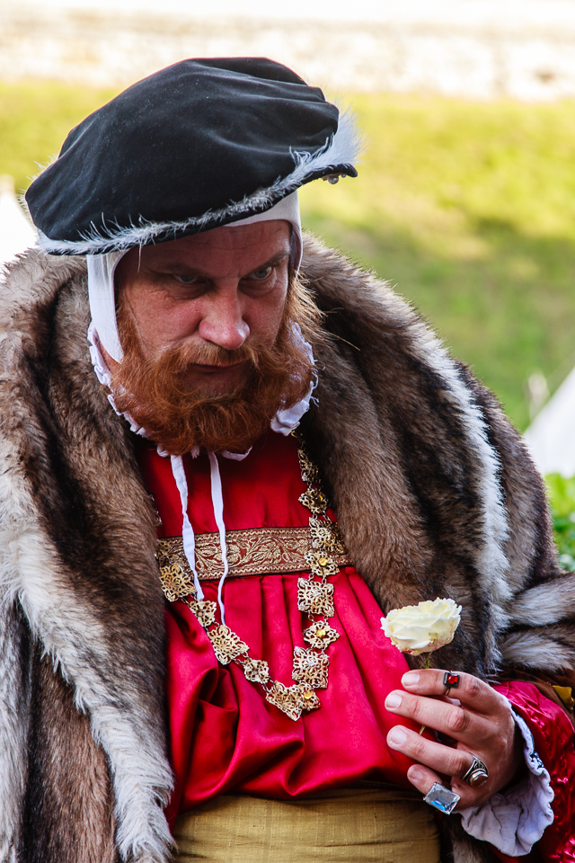 Henry VIII 1/30th at f/5.6, ISO 100 (105mm) Warwick Castle was a royal property during Henry VIII's reign.