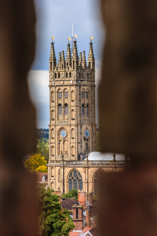 Beyond The Wall 1/160th at f/6.3, ISO 100 (109mm) TheCollegiate Church of St Mary as seen through a wall at Warwick Castle.