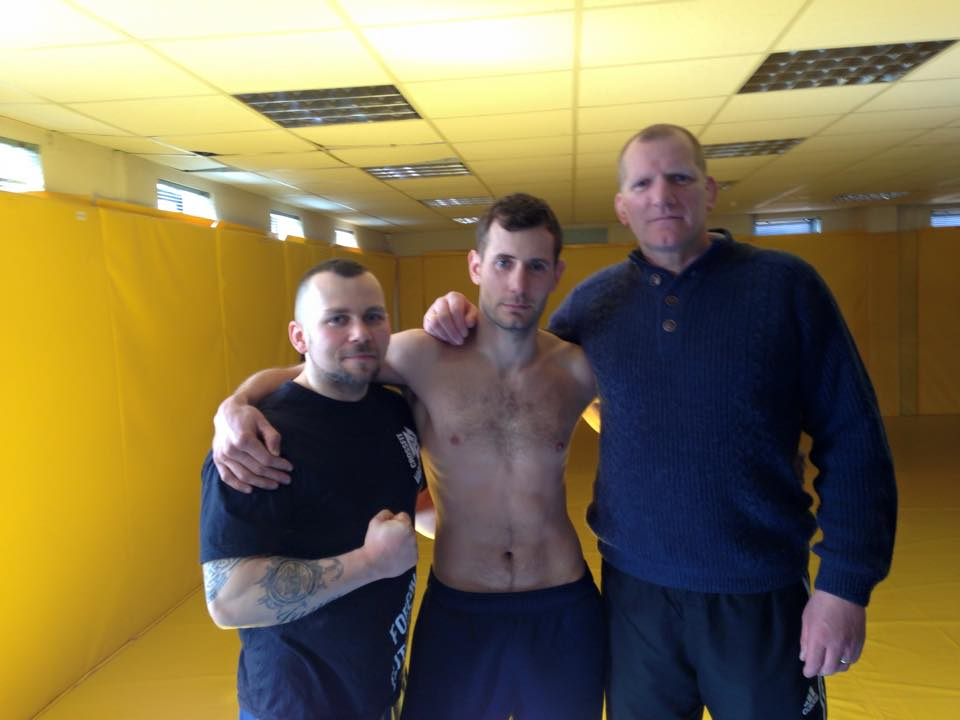 Coach Tomek, Gerard Gilmore and MMA Instructor Tom Lamont