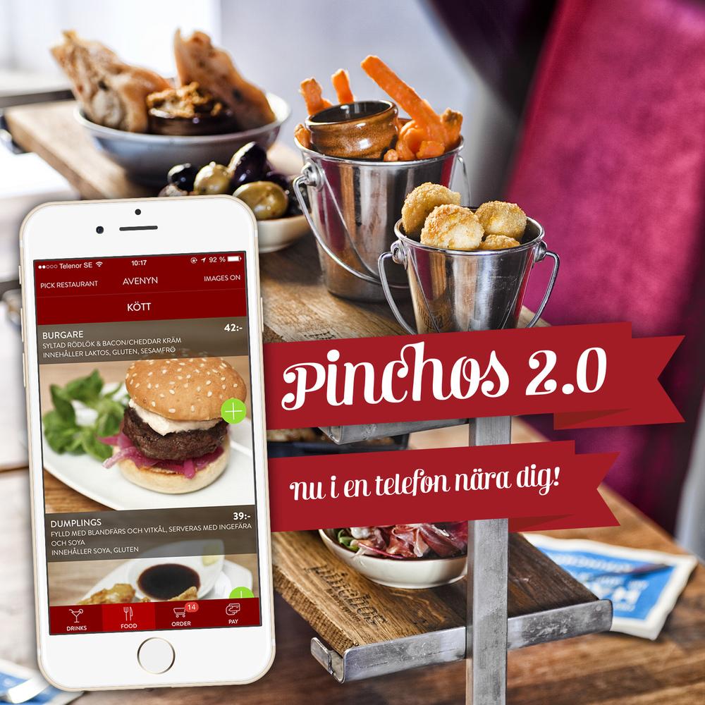 Pinchos 2.0 med appbetalning och bonussystem