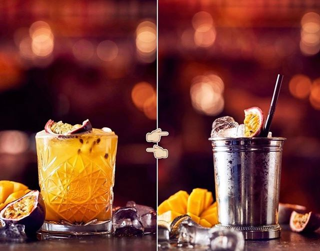 GLASDUELL! 🥃 Vilket glas föredrar du till din mango/passion sour? 🤔 Vänster eller höger?