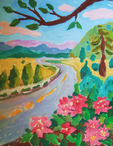 This is the parkway painting.  I have probably made a thousand dollars on this thing, I have taught it many times.