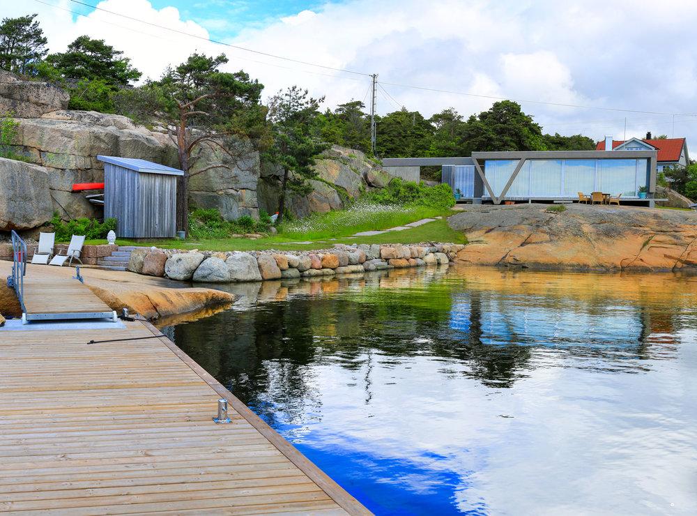 Denne hytta på Fredrikstadkysten er bygget av      Kolstad Mesterbygg
