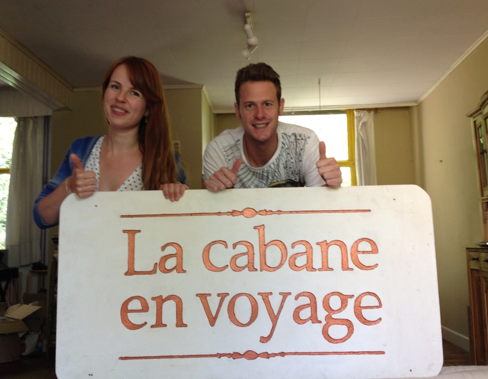 Michael and me, advertising for la cabane.