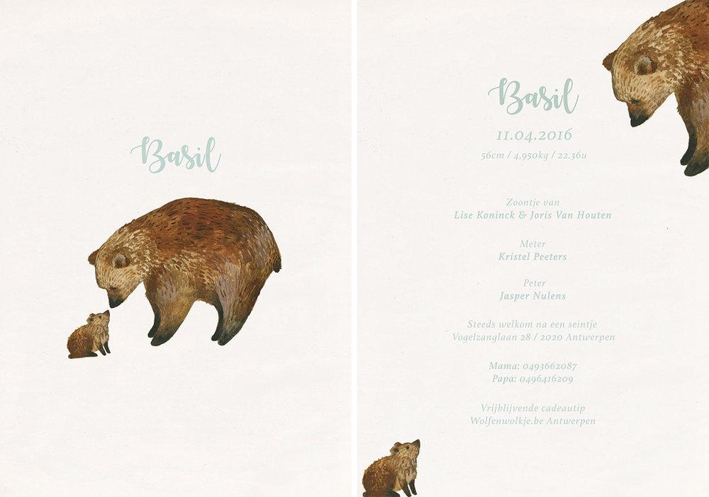 la cabane en voyage-geboortekaartje-Basil
