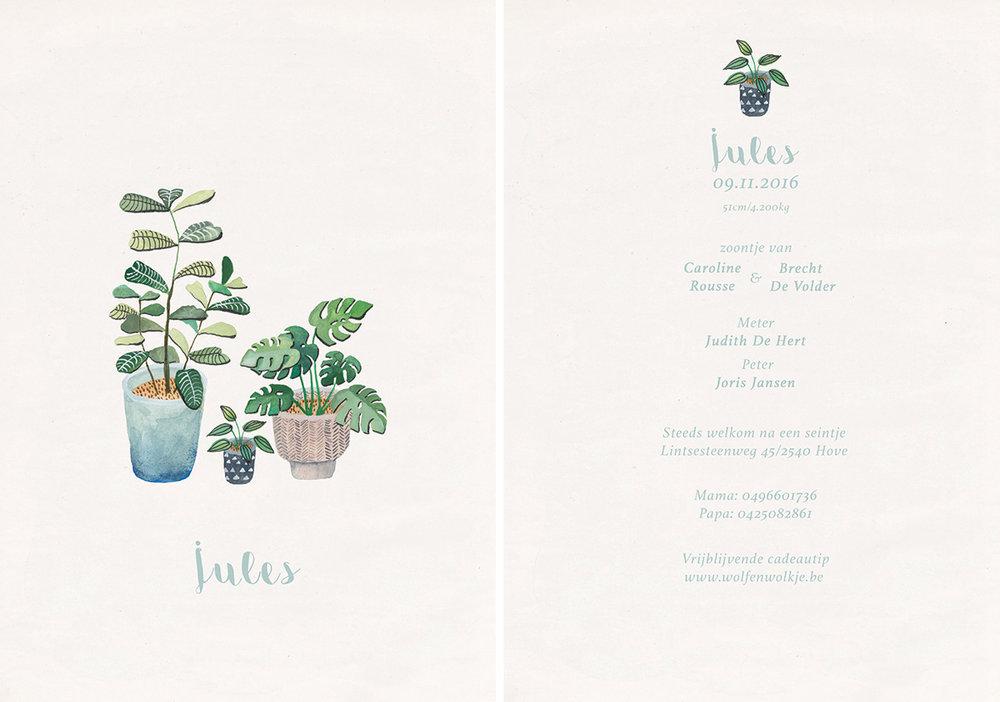 la cabane en voyage-geboortekaartje-Jules