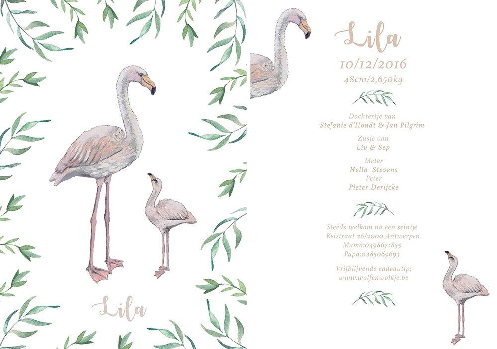 la cabane en voyage - geboortekaartje Lila