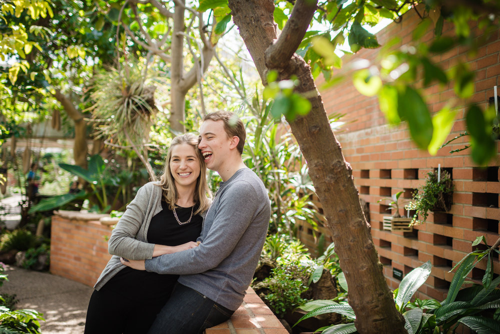 Ariel & Matt   A Spring Engagement Session in the Conservatory at the Matthaei Botanical Gardens in Ann Arbor, Michigan