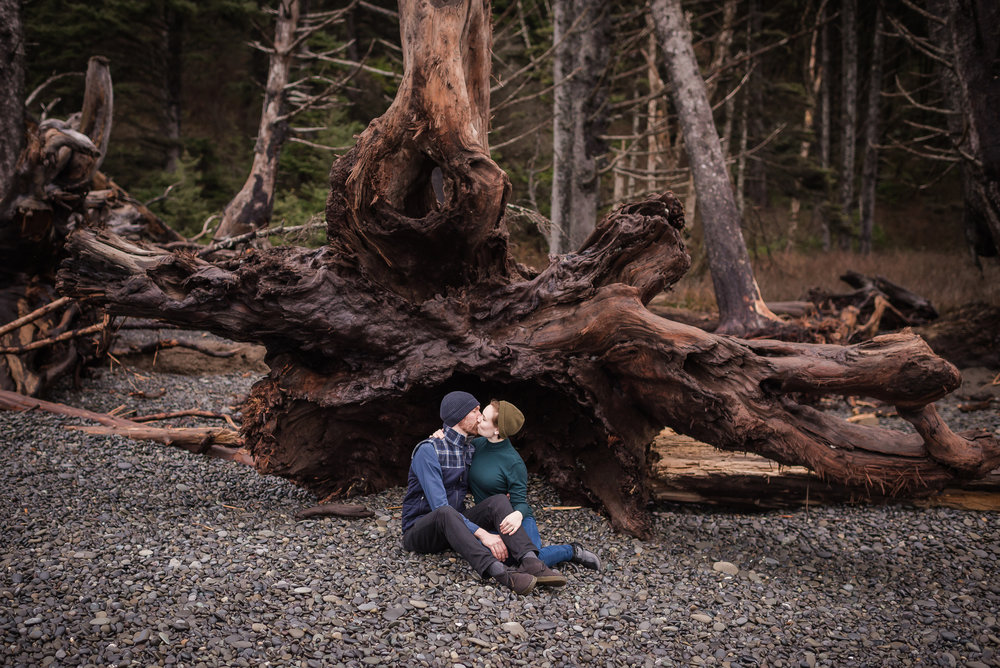 Andrea & Nick A Rialto Beach engagement session in Forks, Washington.