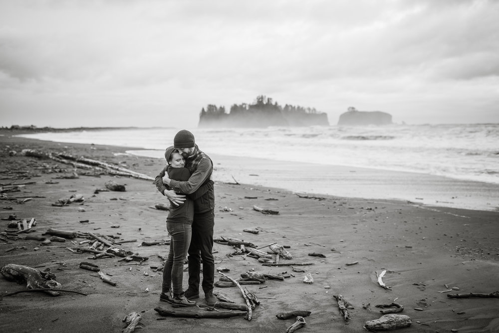 Engagement Session on Rialto Beach