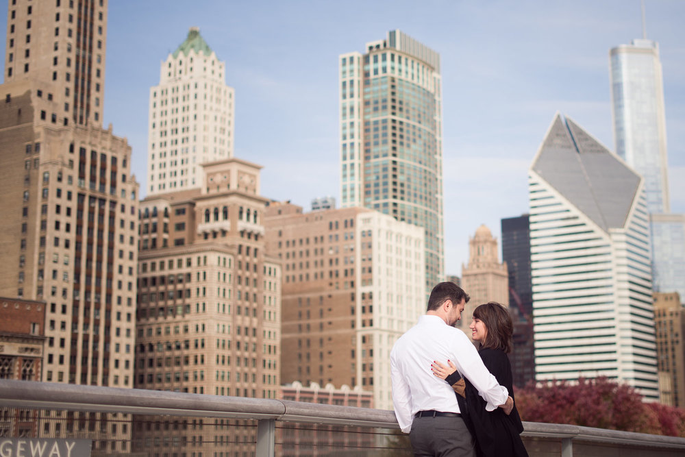 Chicago Engagement Session at the Chicago Institute of Arts