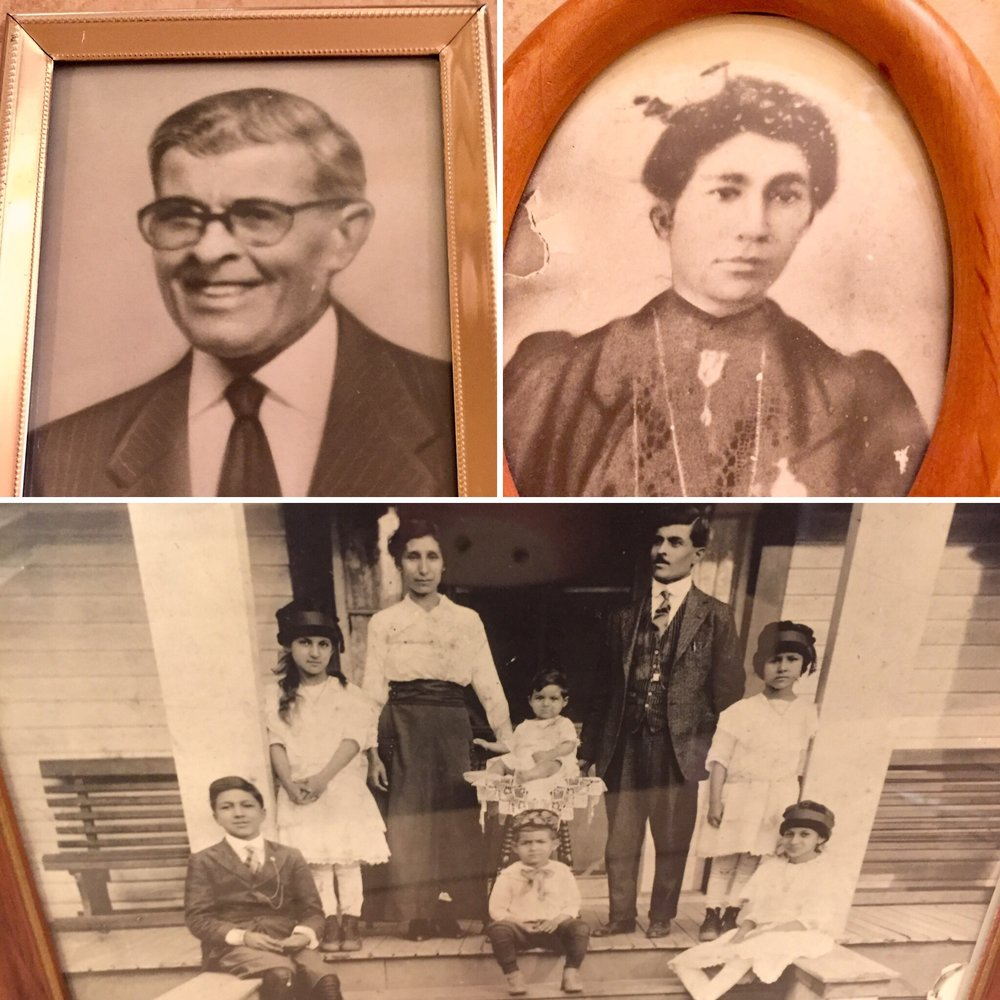 Deenie's grandparents Ellis and Esme' Assaf and their six children.  Deenie's son, Ellis is named after his great-grandfather.  Deenie's dad, Woody Assaf, in this family photo, is the baby!