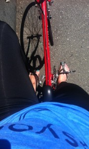 PS DO NOT bike in flip flops. Your calves and Achilles will make you pay for it later. We know from experience. #ughhh