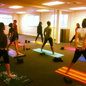 Oiselle Team's first Jasyoga sesh.