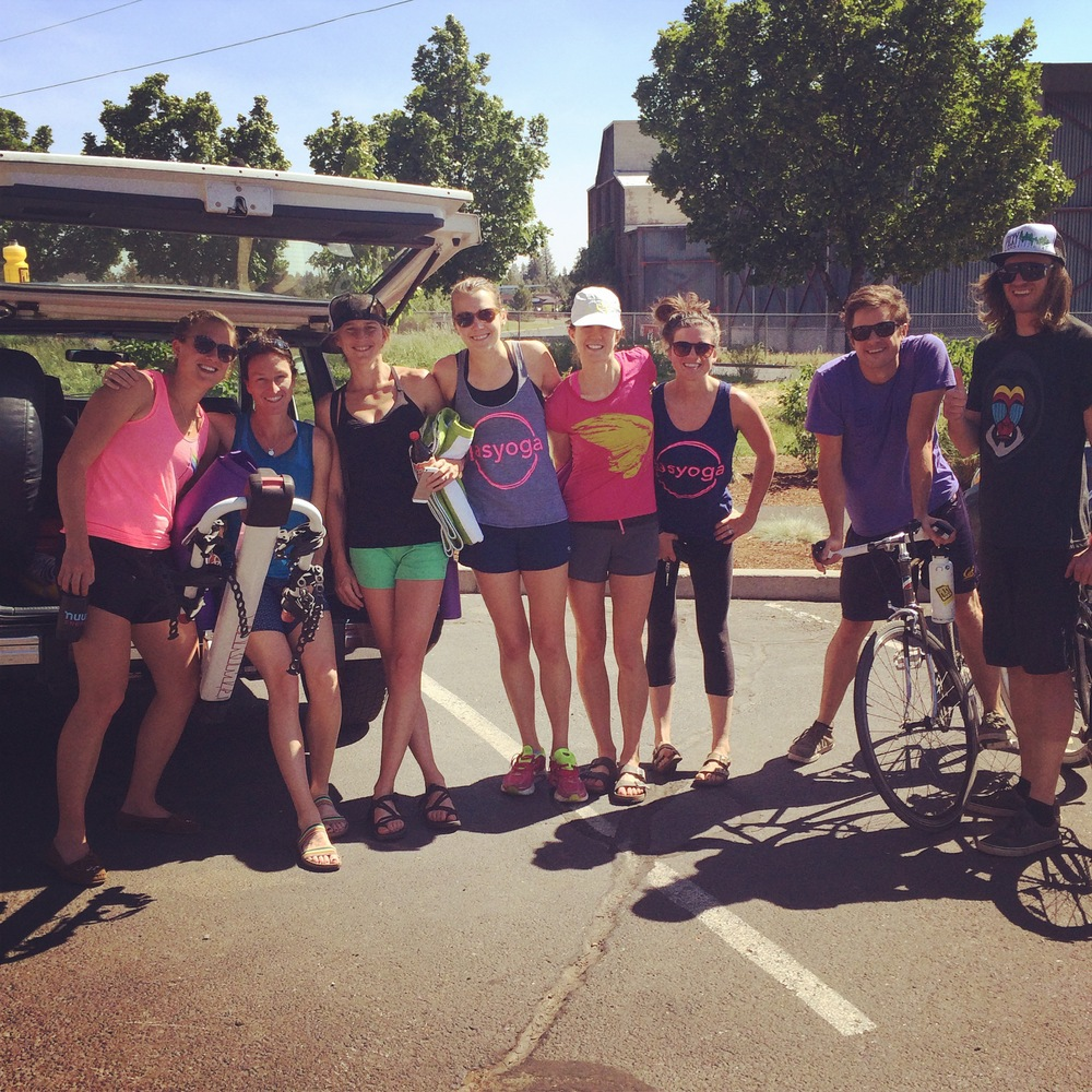 The Picky Bars and Oiselle Little Wing OMies who so generously hosted me and the mobile studio in Bend.
