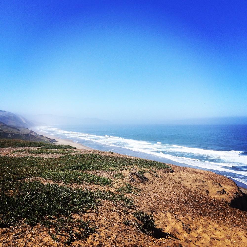 Breathing space at Ocean Beach in San Francisco.