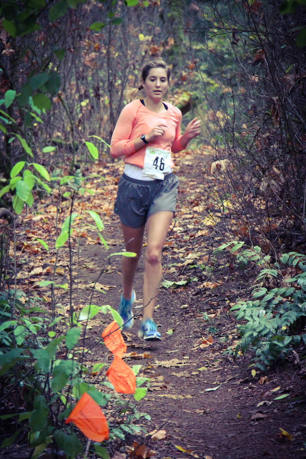 Making moves at the St. Edwards Harvest Half near Seattle earlier this month...
