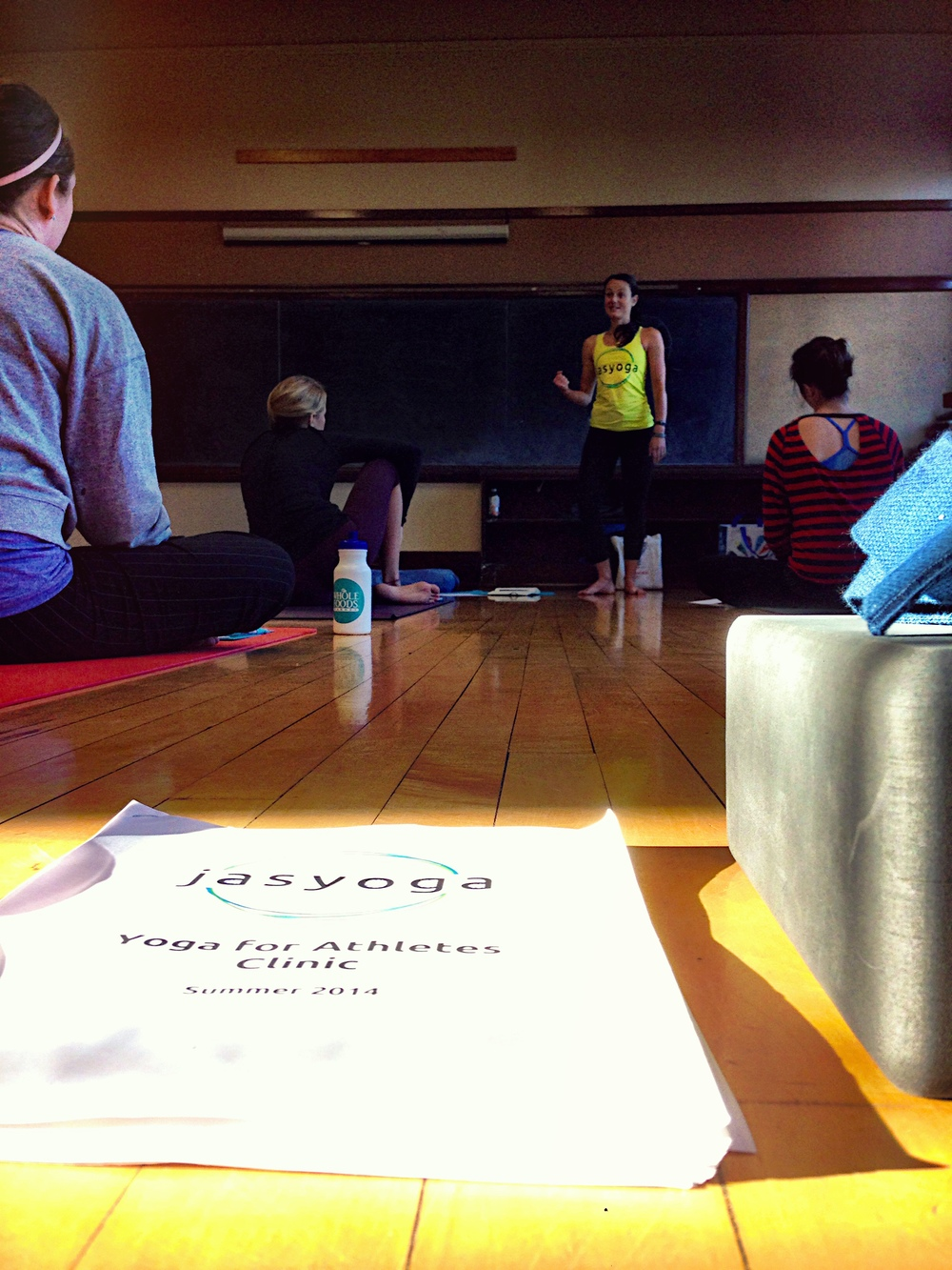 The summer 2014 Yoga for Athletes Clinic led by Erin Taylor