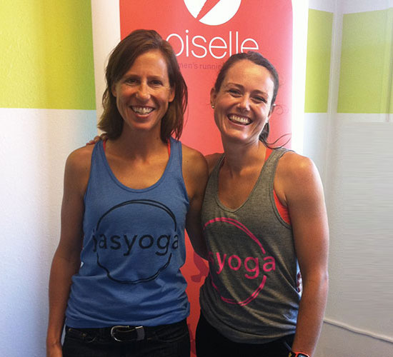 Me and Oiselle's chief bird herself, Sally