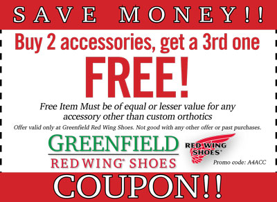 Red wing boots discount coupons