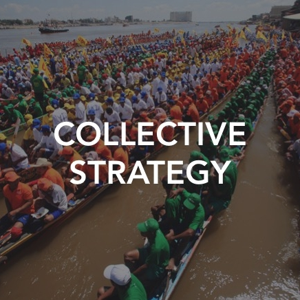 Collective strategy integrates rigorous economic analysis, organizational design, and systems thinking to solve information and coordination failures -- achieving scaled engagement and coordinated action.