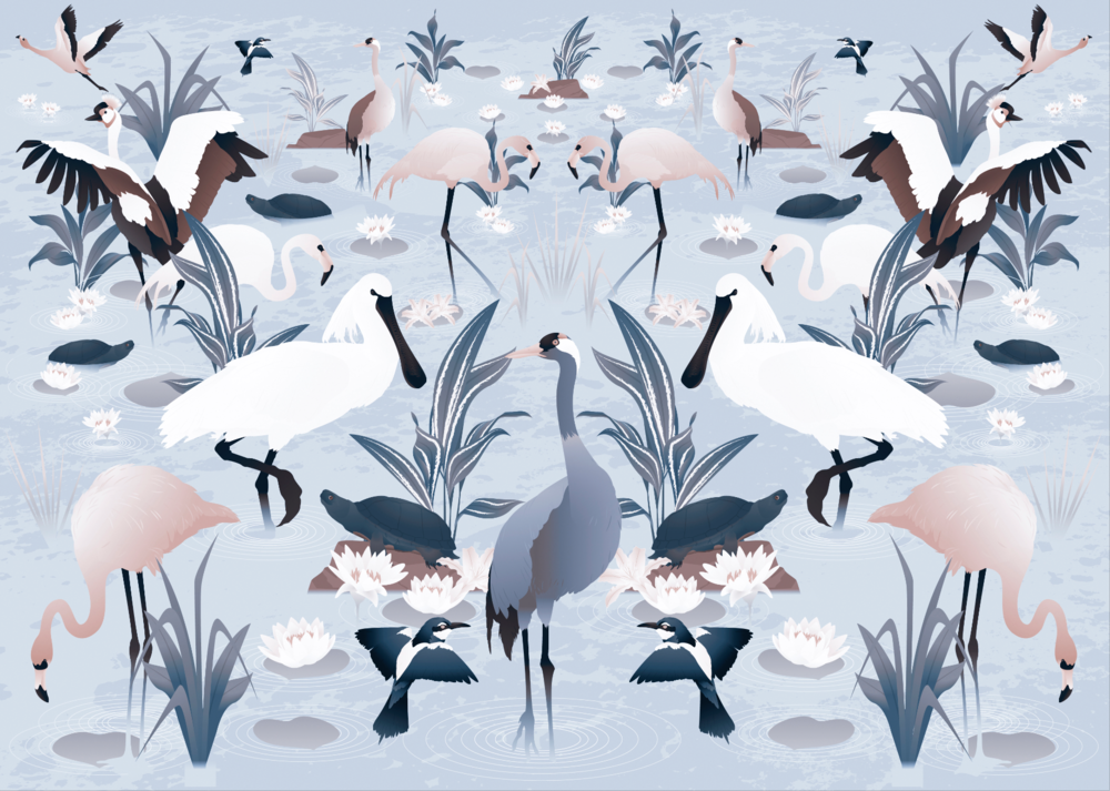 Lagoon pattern. 2016.
