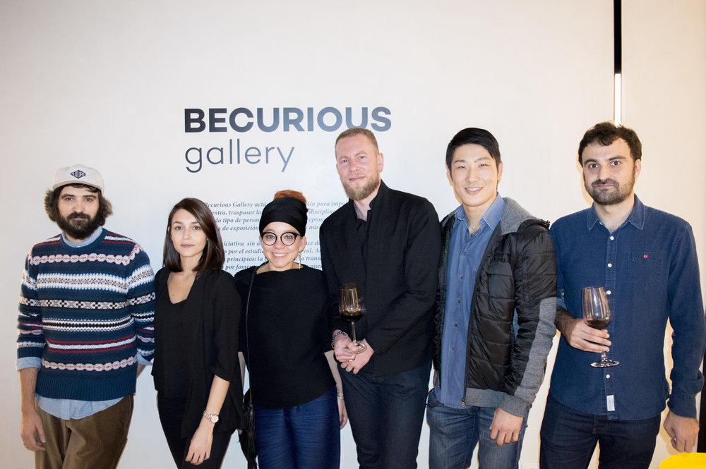 Left to right: Bakea, myself, Marina Anaya, Eric Mangin, Masaaki Hasegawa & Manuel Marsol.