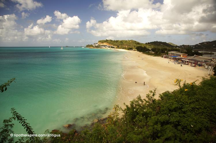 View of Darkwood beach, Antigua