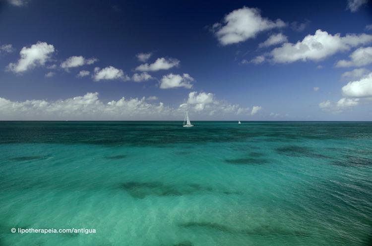 View from Darkwood beach, Antigua