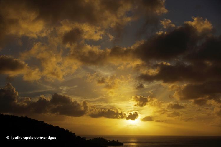 Sunset as seen from Carmichael's Bar, Sugar Ridge, Antigua