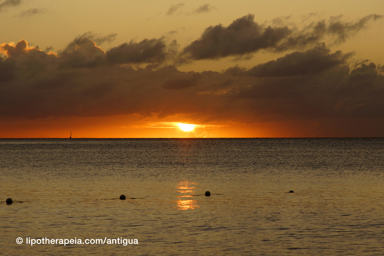 Sunset at Valley church bay, Antigua