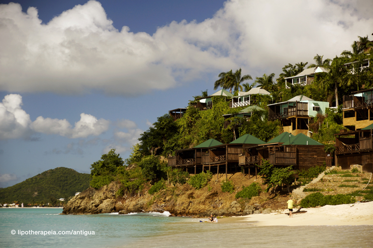 Cocos hotel as seen from Valley church bay, Antigua