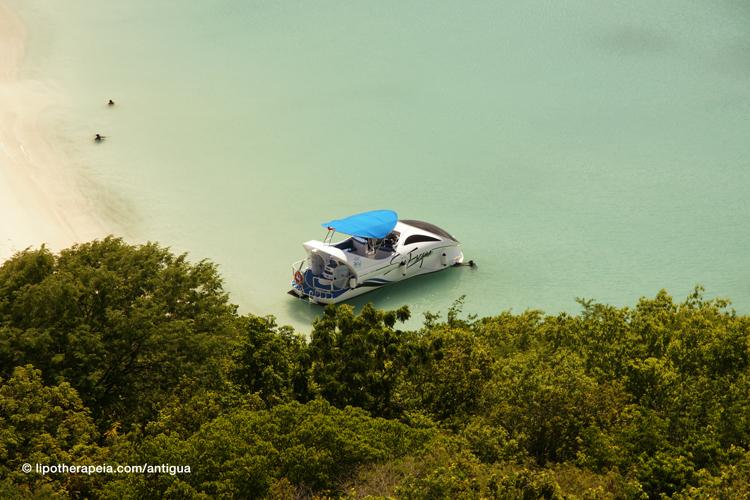 View of Deep bay, Antigua (visited via Sea Escape Tours)