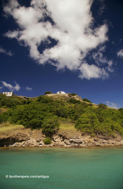 Deep bay and Fort Barrington, Antigua