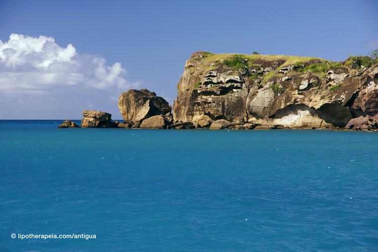 The outer edge of Deep bay, Antigua
