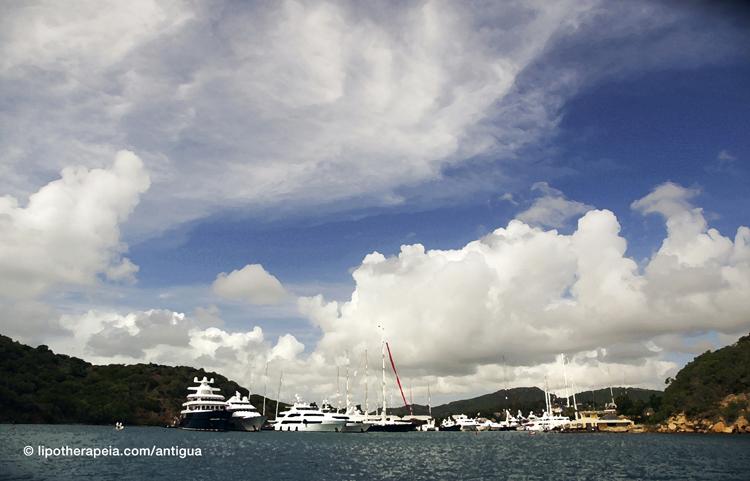 """English harbour,Antigua (""""dry brushed"""" on Photoshop)"""