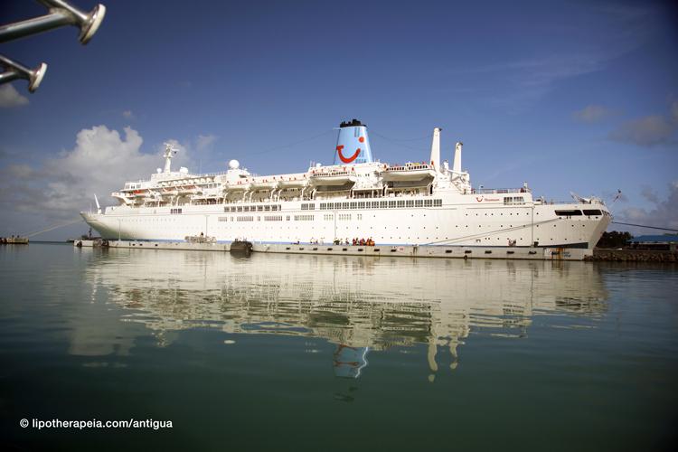 Cruise ship docked at Saint John, Antigua