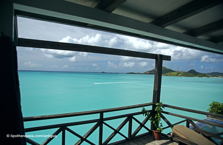 Amazing view of Jolly Bay from Cocos hotel, Antigua