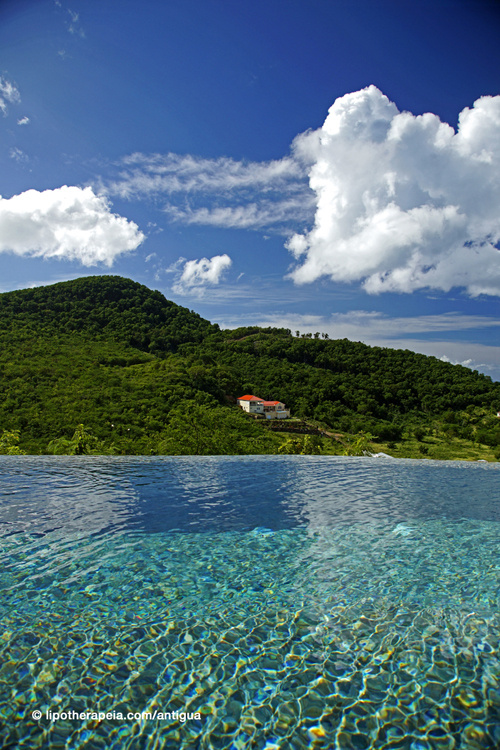 View from the pool at Carmichael's, Sugar Ridge hotel, Antigua