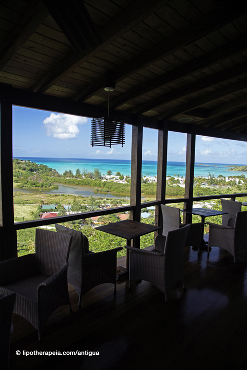 The bar at Carmichael's, Sugar Ridge hotel, Antigua