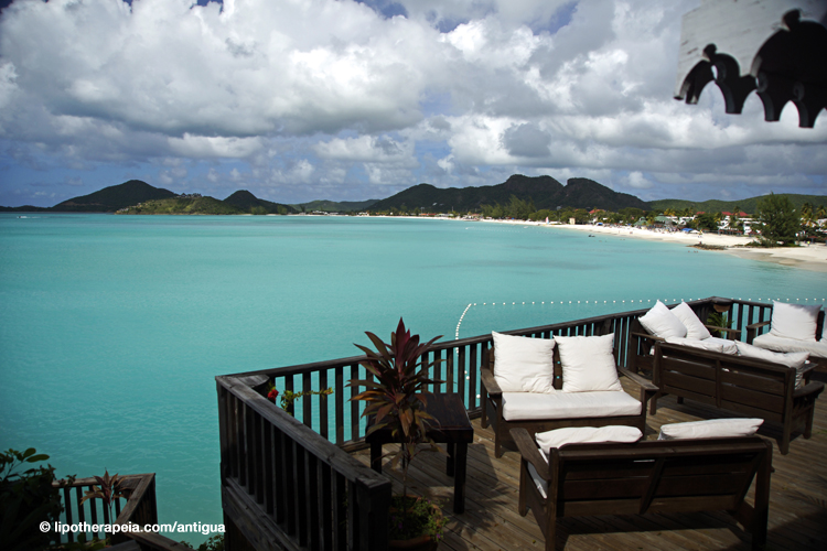 View of Jolly beach from Cocos hotel, Antigua