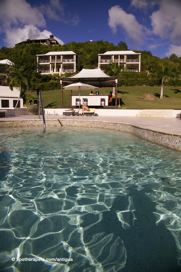 The pool of Sugar Ridge hotel, Antigua