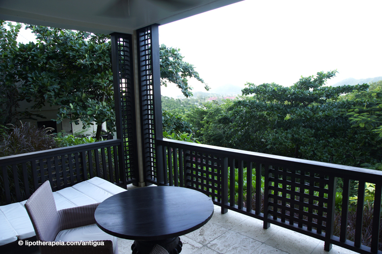 Room balcony at Sugar Ridge hotel, Antigua